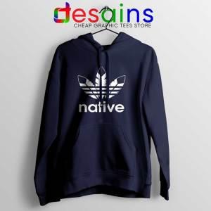 Native American Adidas Navy Hoodie Indians Logo
