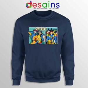 Scotty Doesnt Know Navy Sweatshirt X-Men Comics