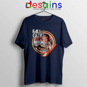 The Fall Guy Tv Show Vintage Navy T Shirt Truck Jumps