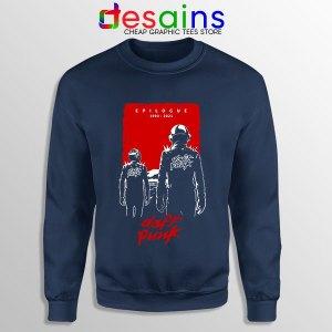 Daft Punk Epilogue Graphic Navy Sweatshirt 1993 to 2021