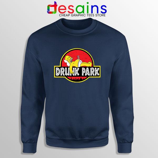 Homer Drinking Beer Navy Sweatshirt Drunk Park Simpsons