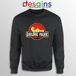Homer Drinking Beer Sweatshirt Drunk Park Simpsons