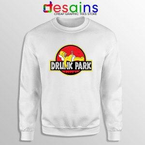 Homer Drinking Beer White Sweatshirt Drunk Park Simpsons