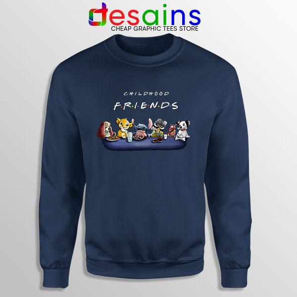 Best Cartoons Friends Navy Sweatshirt Childhood Shows