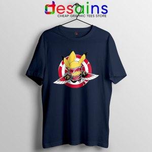 Funny The Falcon Pikachu Navy T Shirt Pokemon