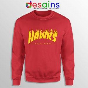Hawks Logo Parody Red Sweatshirt My Hero Academia