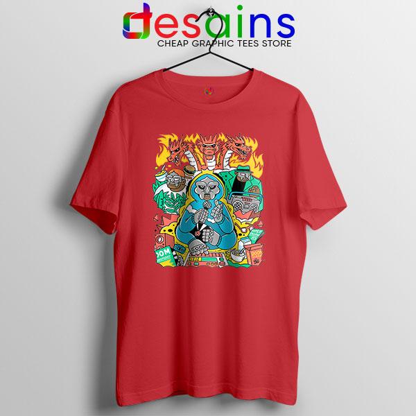 MF Doom Comic Red T Shirt Celebrity Rapper