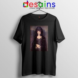 New Wave Mona Lisa Black T Shirt Ramona