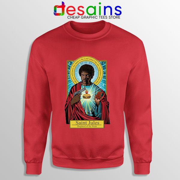 Saint Jules Pulp Fiction Red Sweatshirt Jesus Christ