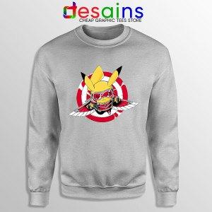 The Falcon Pikachu SPort Grey Sweatshirt Funny Pokemon