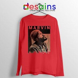 Best Marvin Gaye Tribute Red Long Sleeve Tee Soul Singer