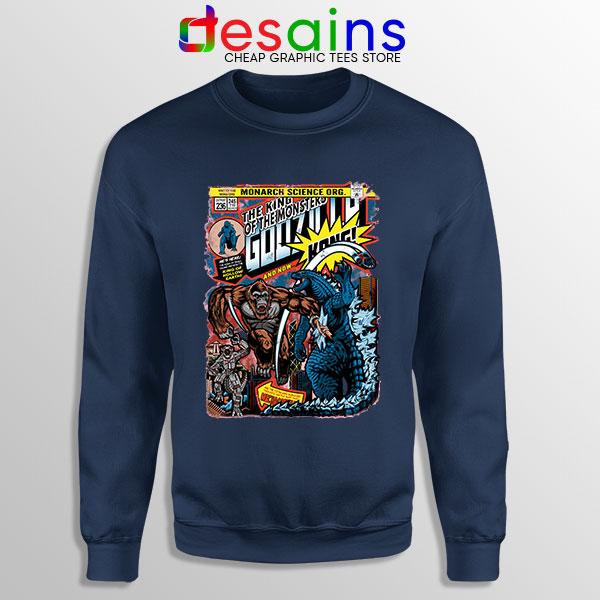 Best Titans Godzilla vs Kong Navy Sweatshirt Monsters