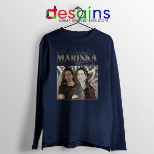 Buy Mariska Hargitay Merch Navy Long Sleeve Tee Law and Order Svu