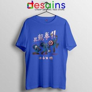 Captain America Shoryuken T Shirt Street Fighter