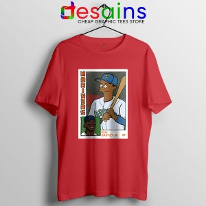 Ken Griffey Jr Homer Simpson Red T Shirt Mariners MLB