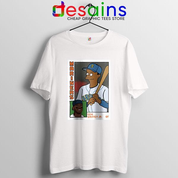 Ken Griffey Jr Homer Simpson White T Shirt Mariners MLB