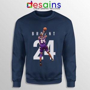 Kobe Bryant 24 Best Dunk Navy Sweatshirt Legend NBA