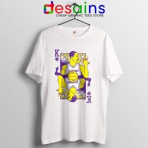 Kobe King of LA Lakers T Shirt Black Mamba RIP