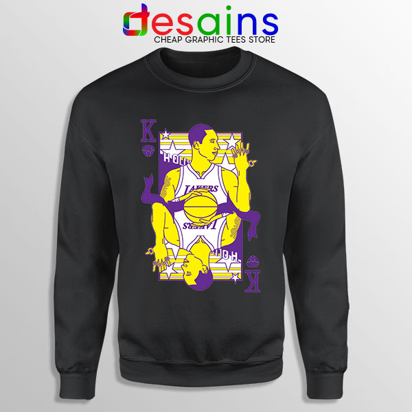 Kobe King of Lakers Black Sweatshirt Black Mamba RIP