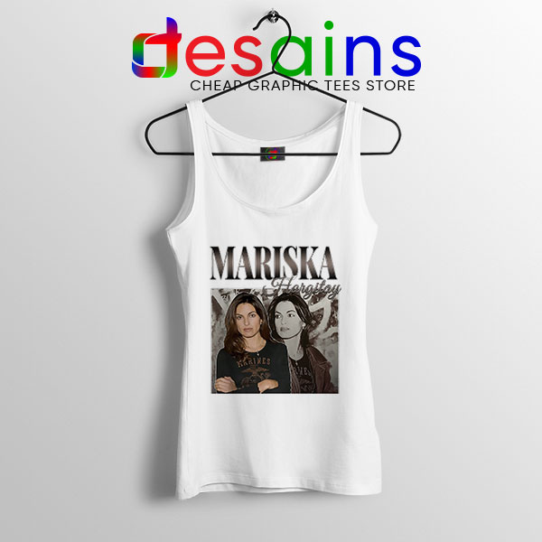 Mariska Hargitay Merch White Tank Top Law and Order Svu