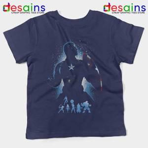 The Super Soldier Avengers Navy Kids Tee Captain America