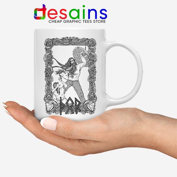 Thor God of Protection White Mug Norse Mythology