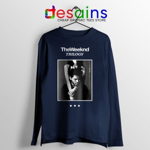 Trilogy The Weeknd Album Cover Navy Long Sleeve Tee XO