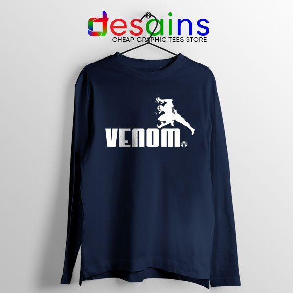 Venom 2 Puma Logo Navy Long Sleeve Tee Let There Be Carnage