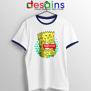 Bart Simpson in Fashion Navy Ringer Tee The Simpsons