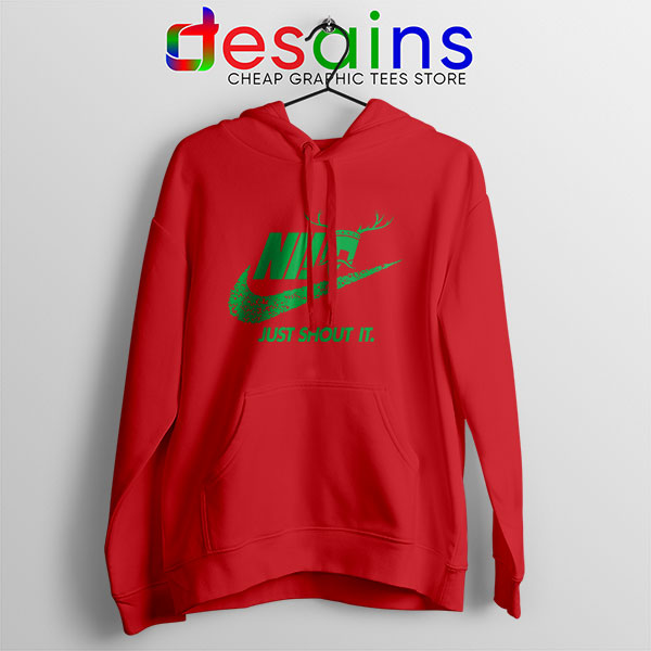 Knights Who Say Ni Red Hoodie Nike Just Shout It