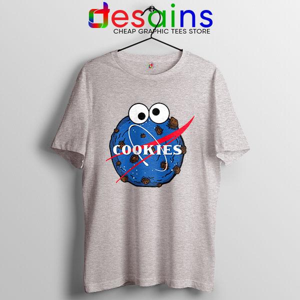 NASA Space Cookies Sport Grey T Shirt Funny Old Logo