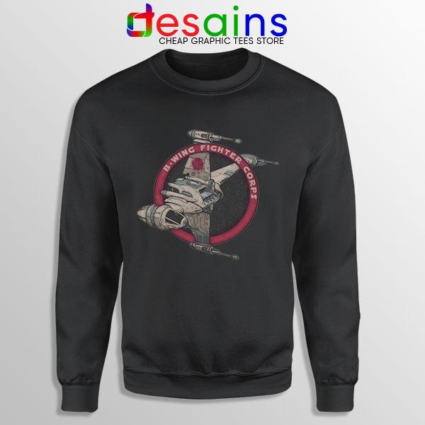 Star Wars B Wing Fighter Black Sweatshirt Rebel Alliance