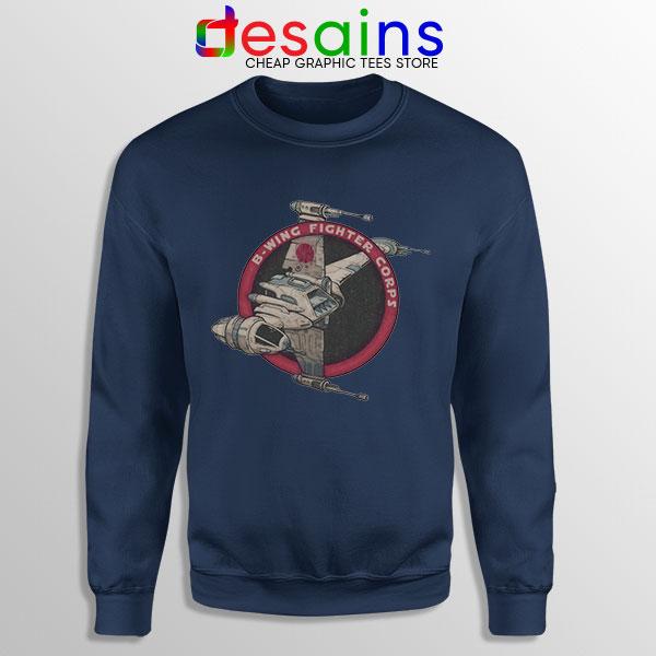 Star Wars B Wing Fighter Navy Sweatshirt Rebel Alliance