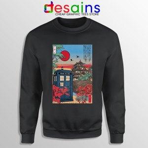 Tardis Blue Paint Japan Black Sweatshirt Doctor Who BBC