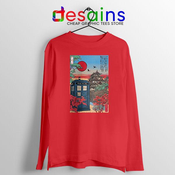 Tardis Blue Paint Japan Red Long Sleeve Tee Doctor Who