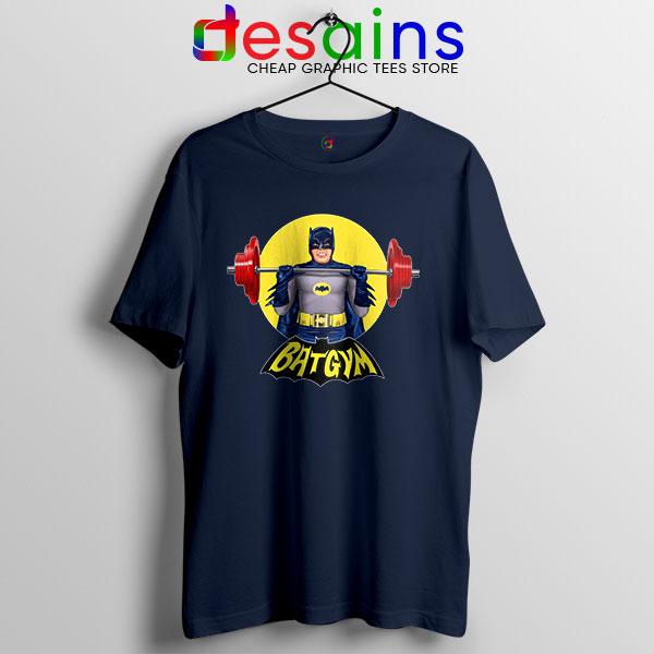 The Batman Gym Plan Navy T Shirt DC Comic Workout
