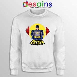 The Batman Gym Plan White Sweatshirt DC Comic Workout