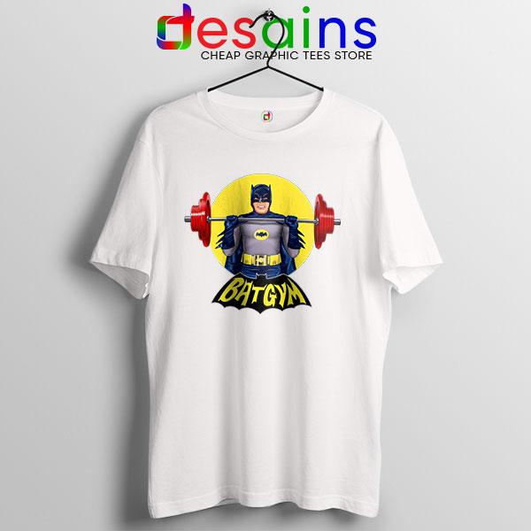 The Batman Gym Plan White T Shirt DC Comic Workout