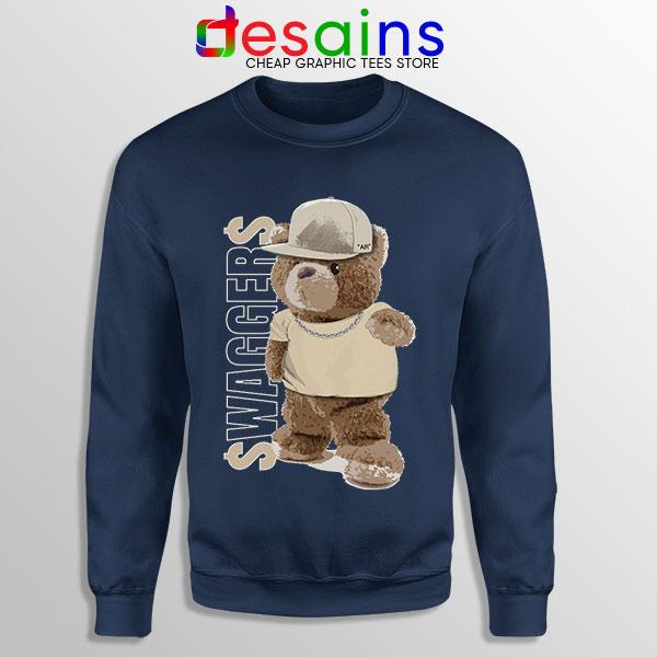 Air Jordan 4 Bear Swaggers Navy Sweatshirt Sneakers Clothes