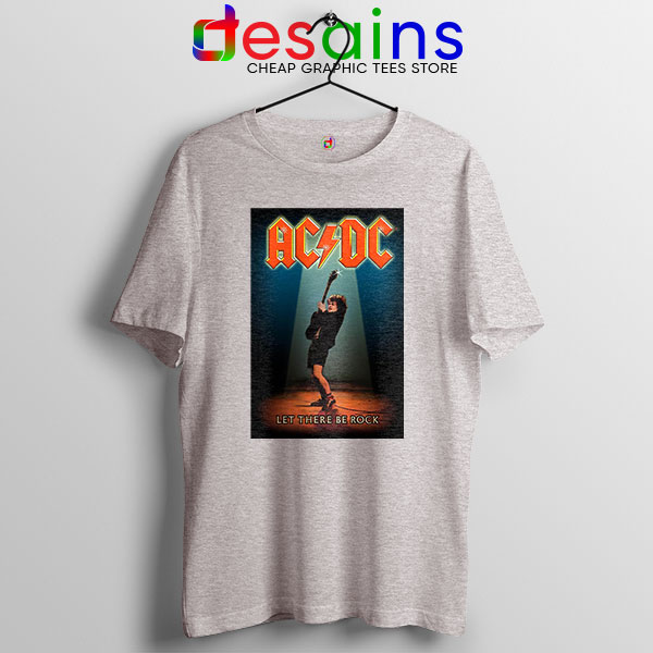 Best AC DC Hits Greatest Sport Grey T Shirt Let There Be Rocks