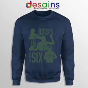 Best Bucks In Six NBA Navy Sweatshirt Milwaukee Bucks