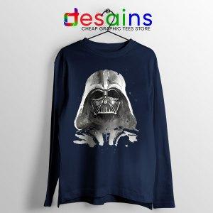 Best Darth Vader Paint Navy Long Sleeve Tee Anakin Skywalker