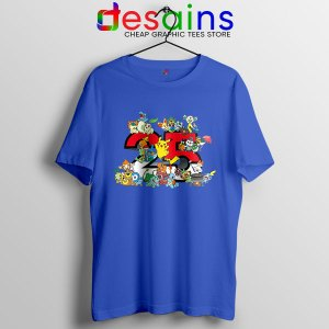 Best Pokémon Universe Blue T Shirt 25th Anniversary
