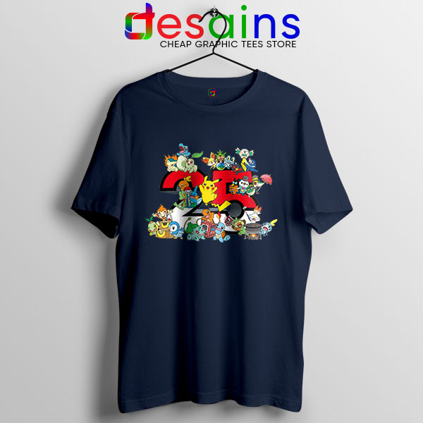 Best Pokémon Universe Navy T Shirt 25th Anniversary