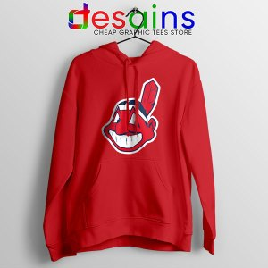 Buy Chief Wahoo Logo Red Hoodie Cleveland Indians MLB