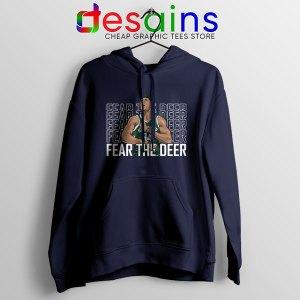 Buy Fear The Deer Giannis Navy Hoodie Bucks Final