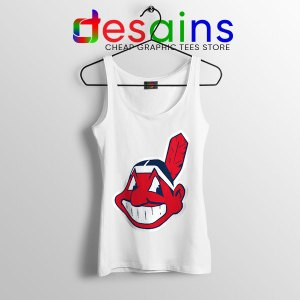 Chief Wahoo Logo White Tank Top Cleveland Indians MLB