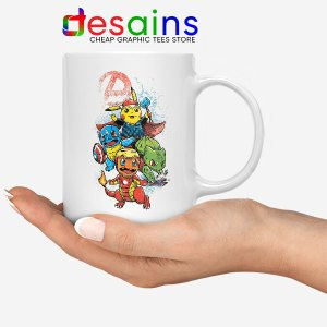Cute Pokemon Avengers Mug Pokengers Hero