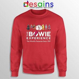 David Bowie Experience Red Sweatshirt Still Alive