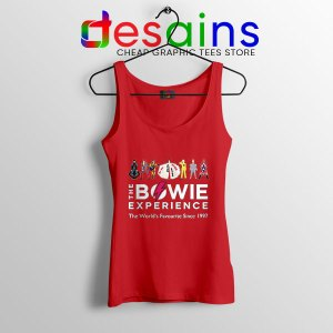David Bowie Experience Red Tank Top Still Alive